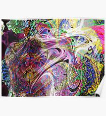 Three-layer blended abstract (UF0397)  Poster