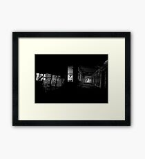 Light space, Dark space Framed Print