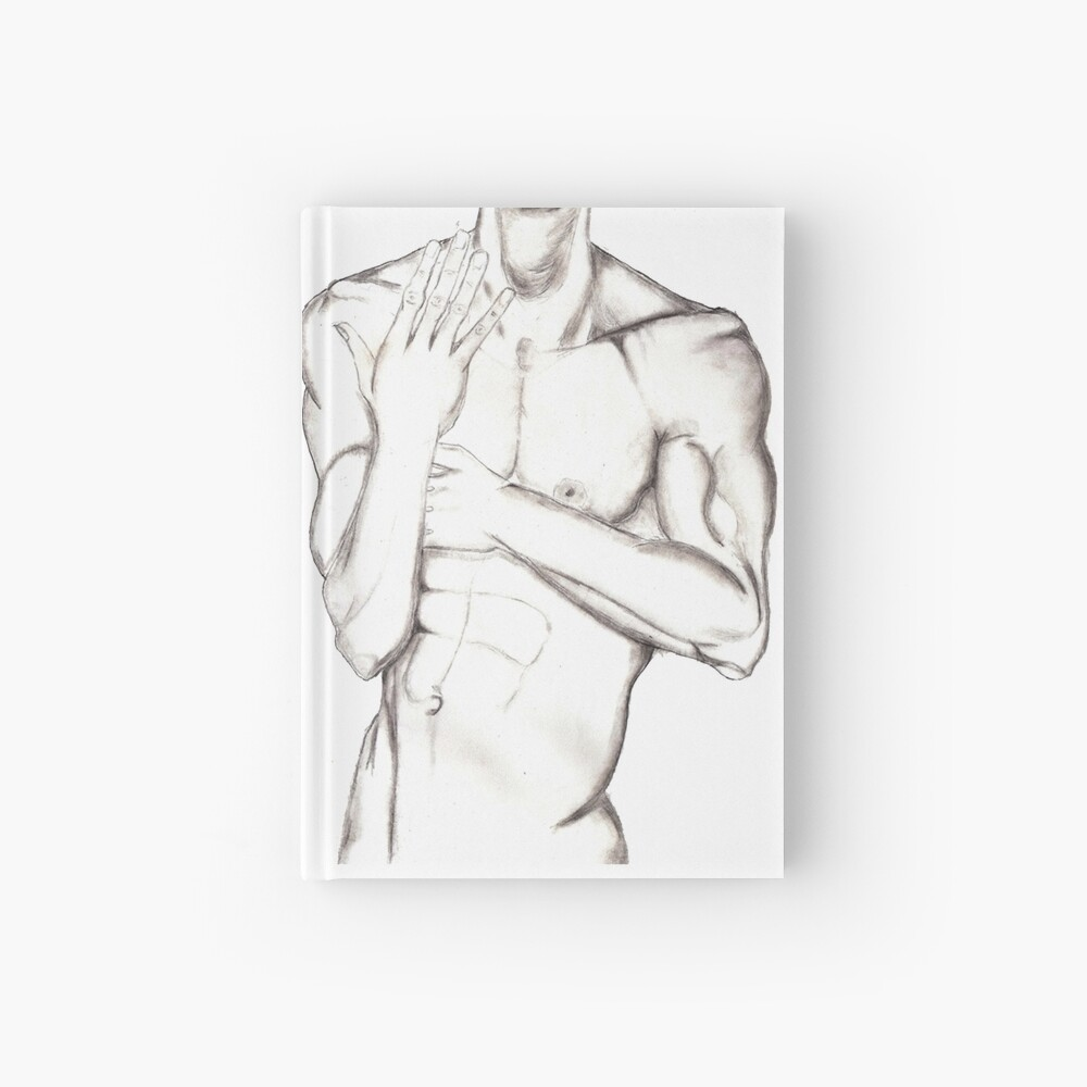 Male Torso Hardcover Journal