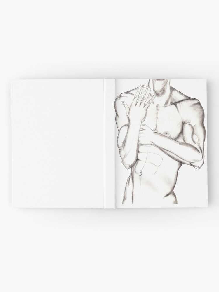 Alternate view of Male Torso Hardcover Journal