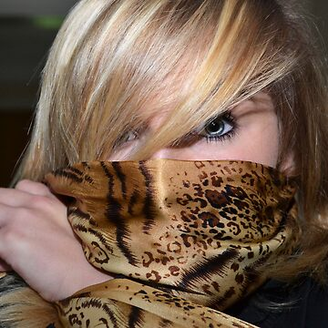 Josephine's leopard scarf by BrightBrownEyes