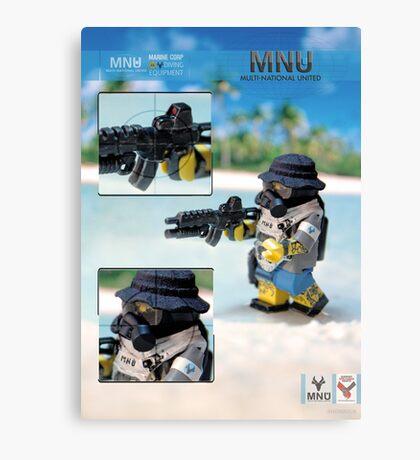 MNU diving suit 2 Canvas Print