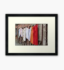 Wash Day or Gallery? Framed Print