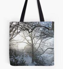 Fresh snow on Christmas Day Tote Bag