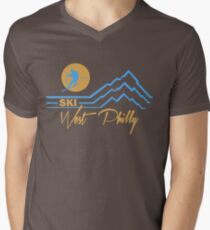 Ski West Philly Men's V-Neck T-Shirt