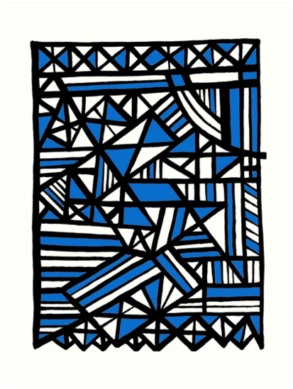 Art, Artwork, Abstract, Design, Illustration, Blue, White, Black by martygraw