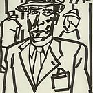 Film Noir IV (2014) (Born to Kill) - drawing by artcollect by artcollect