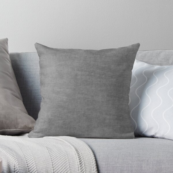 ██ Rough Concrete Gray Throw Pillow