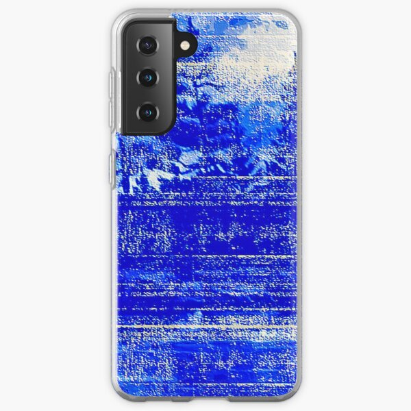Snow covered trees blue Samsung Galaxy Soft Case