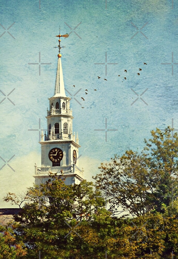 The Congregational Church of Middlebury by Scott Mitchell