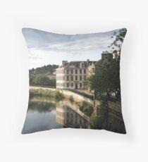 River Cart Throw Pillow