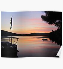 Serenity is a Boat on a Lake in Maine Poster
