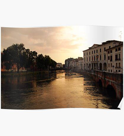 Sunset on the River Sile, Treviso Poster