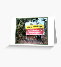 Highly Flammable Greeting Card