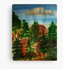 Amongst the pine trees, watercolor Canvas Print