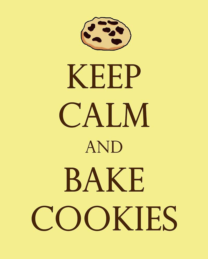 Yellow Keep Calm and Bake Cookies\