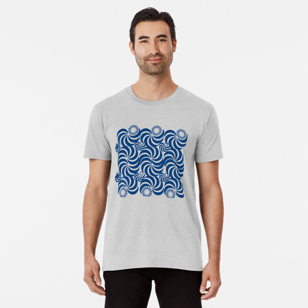 new fashion style line pattern blue sea  abstract, curve, line, black, pattern, curves, nature, shape, simple, Premium T-Shirt