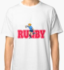 rugby player running with ball Classic T-Shirt