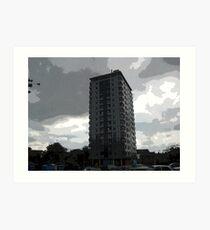 Leverton Gardens, London Road , Sheffield, UK Art Print