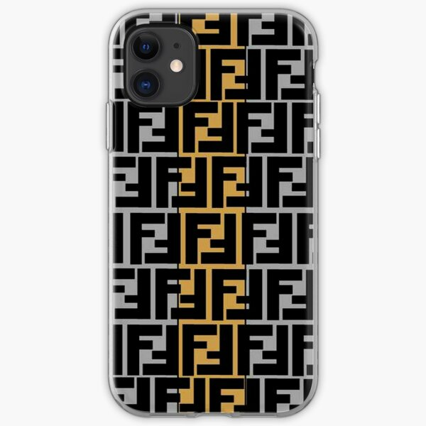 Fendi Collage Pattern  iPhone Soft Case