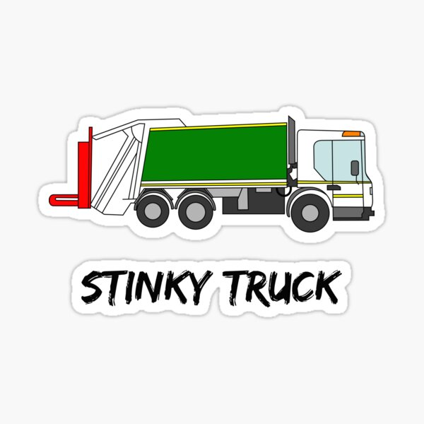 Stinky Truck rubbish garbage recycle environment Sticker