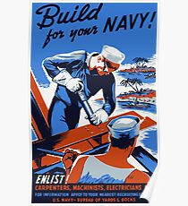 Build For Your Navy -- WW2 Poster