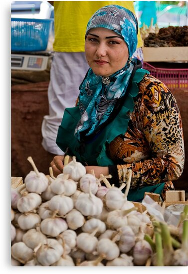 Garlic seller by Gillian Anderson LAPS, AFIAP