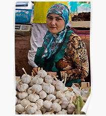 Garlic seller Poster