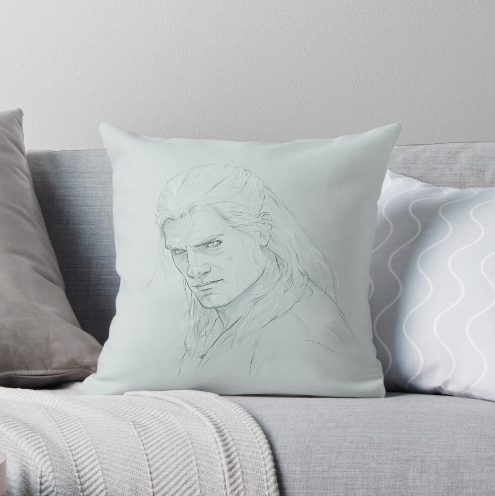 Geralt of Rivia - The Witcher Throw Pillow