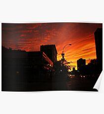 Sunset Over Delancey Poster