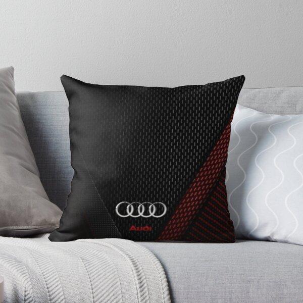 Audi Carbon Throw Pillow