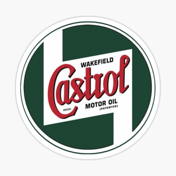 Vintage motor oil logo Sticker
