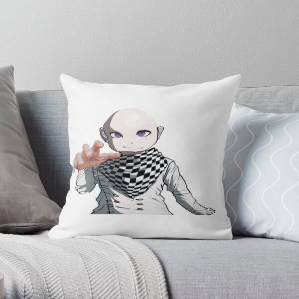 kokichi vibe checks you Throw Pillow
