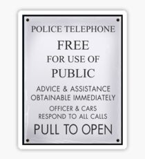 Police Box Sticker