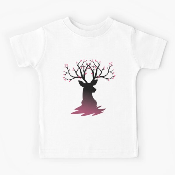 Sakura Deer Cherry Blossom Kid/'s T-Shirt