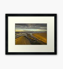 River meets the sea Framed Print