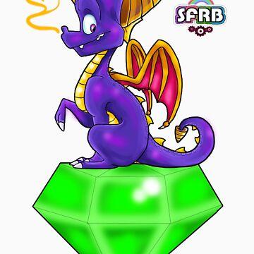 Spyro on a Gem by VanillaGrin