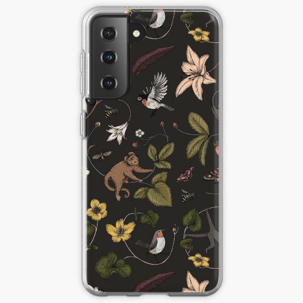 Monkeys in the Mist - black Samsung Galaxy Soft Case