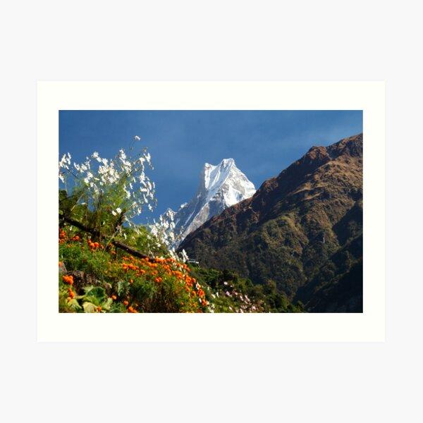 Annapurna Conservation Area. Art Print