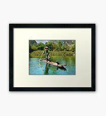 Rural Fisherman Framed Print
