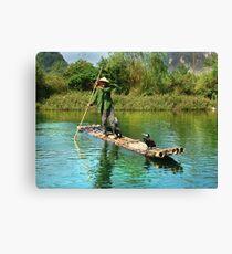 Rural Fisherman Canvas Print