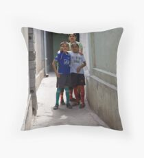Kids of Tashkent Throw Pillow