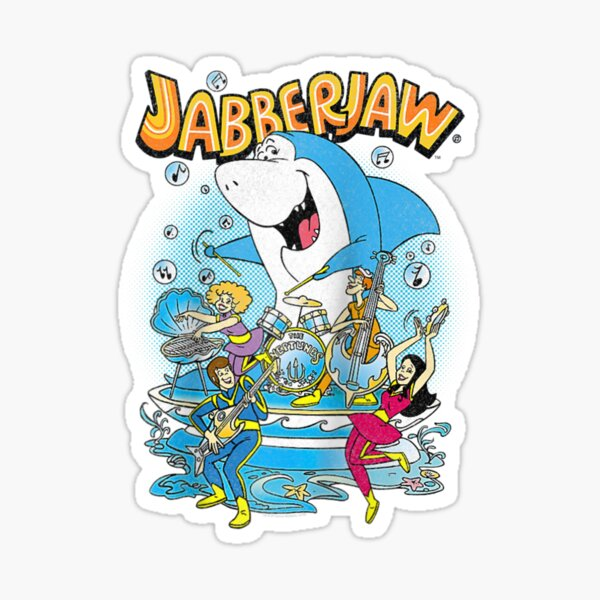 Jabberjaw And The Neptunes Raglan Baseball Tee Sticker