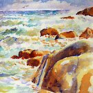 Rough Sea off Bakoven, Cape Town by Gregory Pastoll