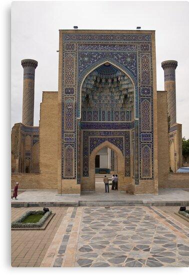 Front gate, Amur Timur Mausoleum by Gillian Anderson LAPS, AFIAP