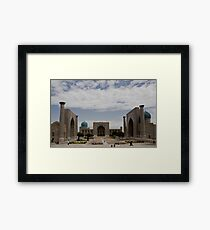 Registan Square view Framed Print