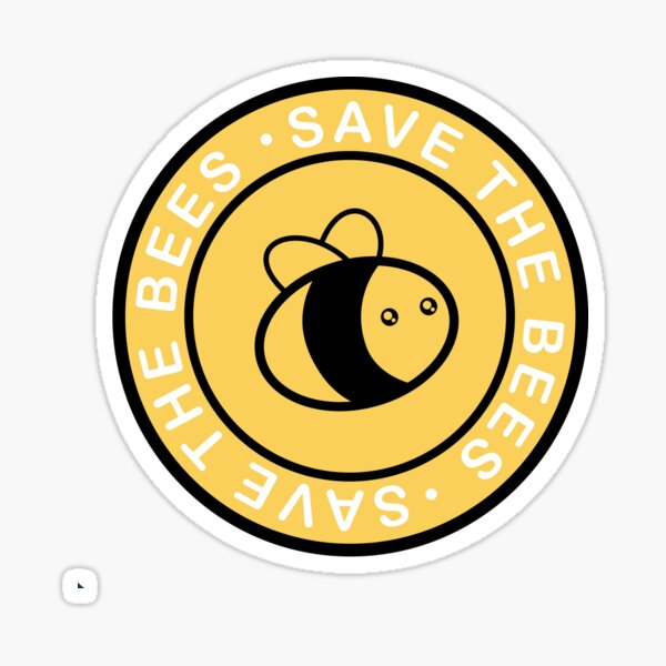 Pop Socket SAVE THE BEES! Two-toned edition Sticker