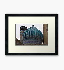 Crinkled dome, Registan Framed Print