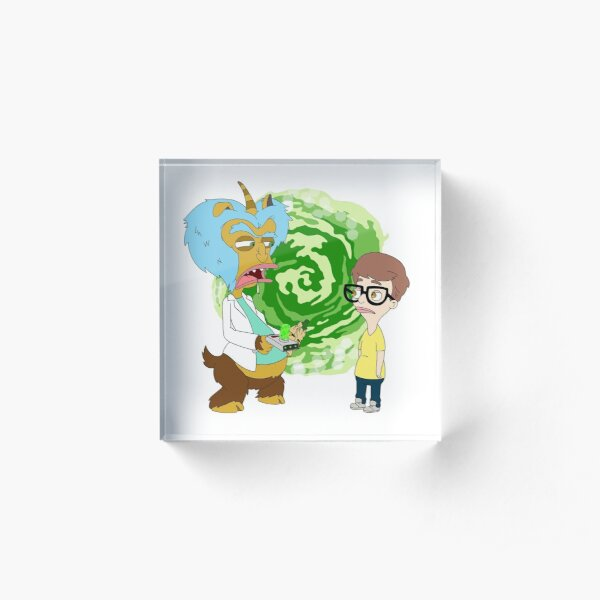 Rick and Morty are Big Mouth Characters Acrylic Block