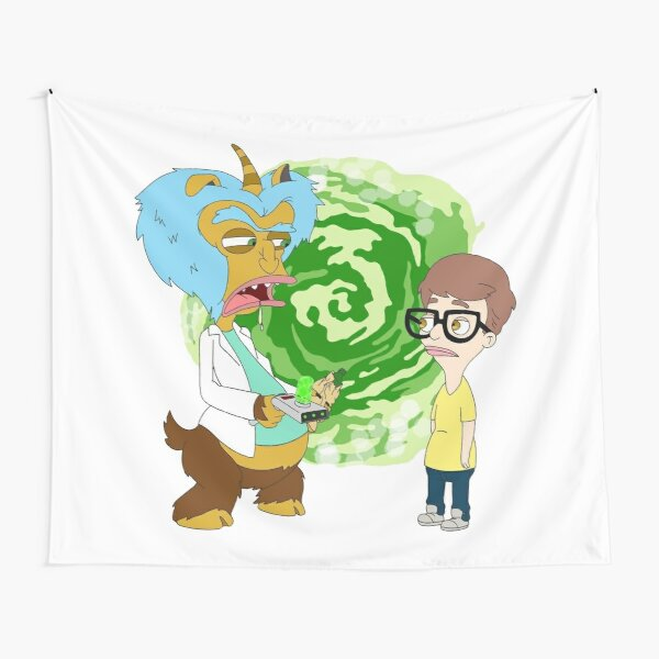Rick and Morty are Big Mouth Characters Tapestry